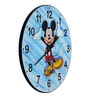 Panash Art Multicolour Solid Wood 18 x 0.8 x 18 Inch Sand Art Wall Clock