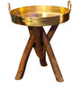 Patal Small End Table in Golden Top by Sahil Sarthak Designs