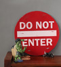 Peacock Life Red Metal Do Not Enter Vintage Sign Showpiece