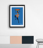 Pickypomp Paper 8 x 12 Inch Tribal with Big Basket in Blue Framed Wall  Poster