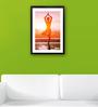 Pickypomp Premium Digital Paper 12 x 1 x 18 Inch Yoga Laminated Framed Poster