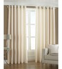 PIndia White Polyester 108 x 48 Inch Long Door Curtain - Set of 2