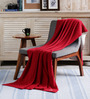 Pluchi Red Cotton Dots of Love Throw