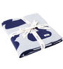 Pluchi Ducky Love Baby Blanket in Indigo & Soft Grey Melange Colour