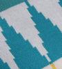Pluchi Multicolor Cotton Geometric 47 x 39 Inch Single Blanket