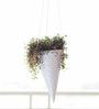 PoppadumArt Iceincream Cone Planter in White