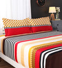 Portico New York Multicolour Geometric Patterns Cotton King Size Bed Sheets - Set of 3
