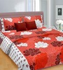 Cortina Scarlet Love Red Cotton Double Bed Sheet
