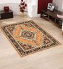 Presto Gold Polyester Traditional Area Rug