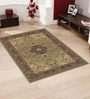 Presto Green Polypropylene Traditional Area Rug
