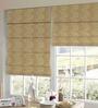 Presto Orange Polyester Floral Window Blind