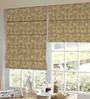Presto Orange Polyester Floral Jacquard Window Blind