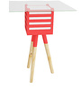 Pride Mellow Wood & Glass Lamp Table with Red Accent by SmalShop