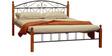 Metallic Queen Size Bed by FurnitureKraft