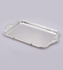 Queen Anne Silver Metal Oblong Serving Tray