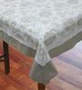 R Home Subtle Print Beige Cotton Table Cover