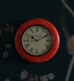 Rang Rage Red MDF 12 X 2 X 12 Inch Close Circle Tagari Wall Clock