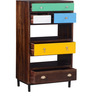 Kelis Book Shelf in Multi-Color Finish by Bohemiana