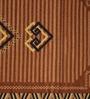 Raj Overseas Brown Nylon 22 x 55 Inch Printed Ikat Diamond Bedside Runner