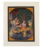 Rajrang Silk & Paper 7 x 9 Inch Enticing Lord Radha Krishna Unframed Painting