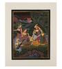 Rajrang Silk & Paper 9 x 7 Inch Ideal Lord Radha Krishna Unframed Painting