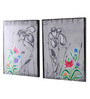 Rang Rage Canvas 16 x 2 x 20 Inch Handpainted Greying Beauty Framed Art Panels - Set of 2