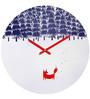 Rang Rage Christmas Tree Handpainted Round Clock