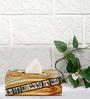 Rang Rage Handpainted Warli Multicolour Wood Tissue Box