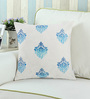 Rang Rage Azure Cotton 16 x 16 Inch Royal Cushion Cover