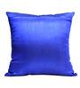 Rang Rage Royal Blue Poly Silk 16 x 16 Inch Cushion Cover