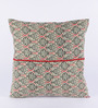 RangDesi Multicolor Cotton 16 x 16 Inch Floral Cushion Cover