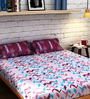Raymond Home Purple Cotton Queen Size Bedsheet - Set of 3