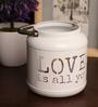 Rednbrown White Metal Love Mason Jar