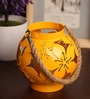 Rednbrown Yellow Metal Revivals Candle Holder