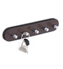 Agapeto Contemporary Key Holder in Brown by CasaCraft