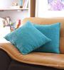 Reme Blue Cotton 16 x 16 Inch Digital Print Cushion Cover - Set of 2
