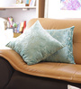 Reme Green Cotton 16 x 16 Inch Embroidered Cushion Cover - Set of 2