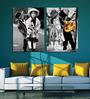 Retcomm Art Kids Love Wood 18 x 12 Inch 2-piece Framed Art Print