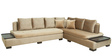Corner Corner Sofa with Velvet Fabric in Brown Colour by Star India
