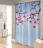 Right Blue & Pink Polyester Shower Curtain