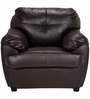 Rosabelle Comfy One Seater Sofa in Brown Colour by Furny