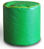 Round Ottoman L size in Green & Yellow Piping Colour with Beans by Style Homez