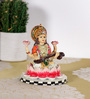 Rural Craft Multicolour Resin Goddess Sarasvati
