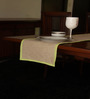 S9home by Seasons Plain Beige Polyester Table Runner