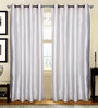 S9Home by Seasons White Polyester Geometric Curtain - Set of 2