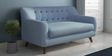 San Bruno Two Seater Sofa in Ice Blue Colour by CasaCraft