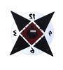 Safal Quartz Brown & Black MDF 11.75 x 11.75 Inch Geometrical Wall Clock
