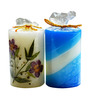 Salebrations Multicolor Cylindrical Candle - Set of 6