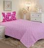 Salona Bichona Pink Floral Single Bed Sheet Set