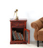 Salvaine Bed Side Table in Honey Oak Finish by Amberville